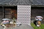 Kuddfodral Nordic svart 48x48 cm