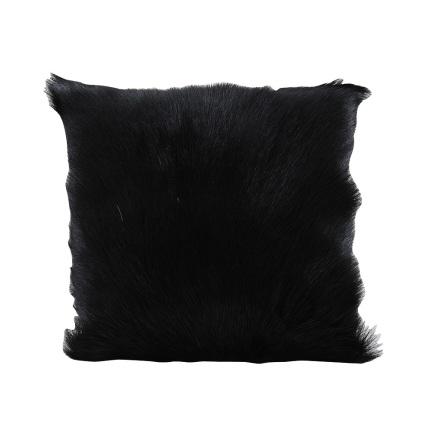Kuddfodral getskinn svart