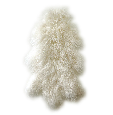 Lammskinn Tibetan lång päls