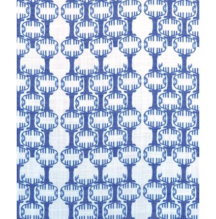 Tyg Nordic blå 100% polyester CS FR
