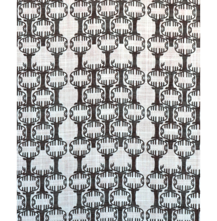 Tyg Nordic svart 100% polyester CS FR