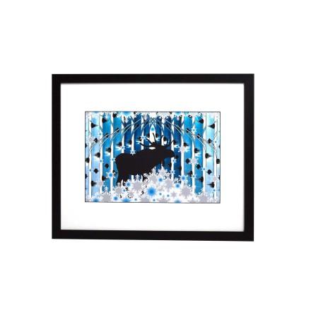 Affisch Vinter blå